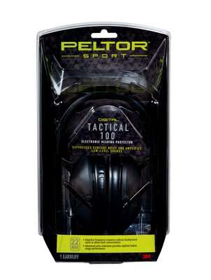 PELTOR SPORT TACTICAL 100 ELECTRONIC HEARING PROTECTION