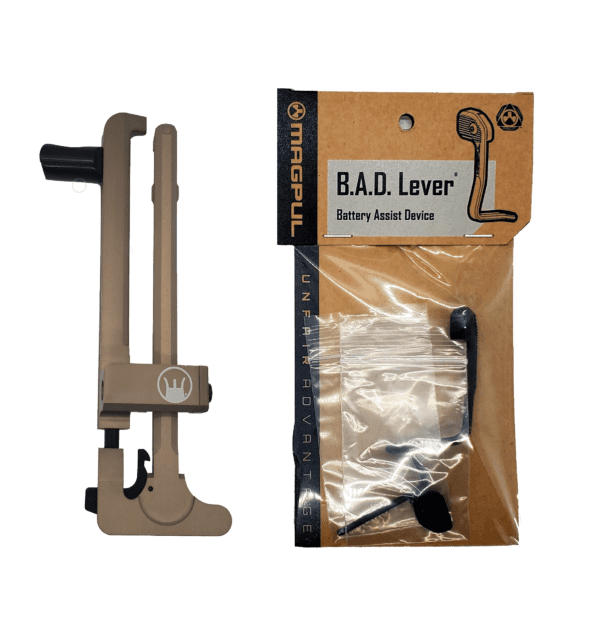 DEVIL DOG CONCEPTS HARD CHARGER ANODIZED FDE WITH MAGPUL B.A.D. LEVER