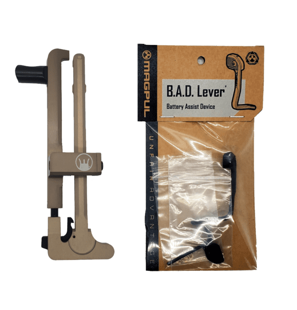 DEVIL DOG CONCEPTS HARD CHARGER TACTICAL ANODIZED FDE WITH MAGPUL B.A.D. LEVER