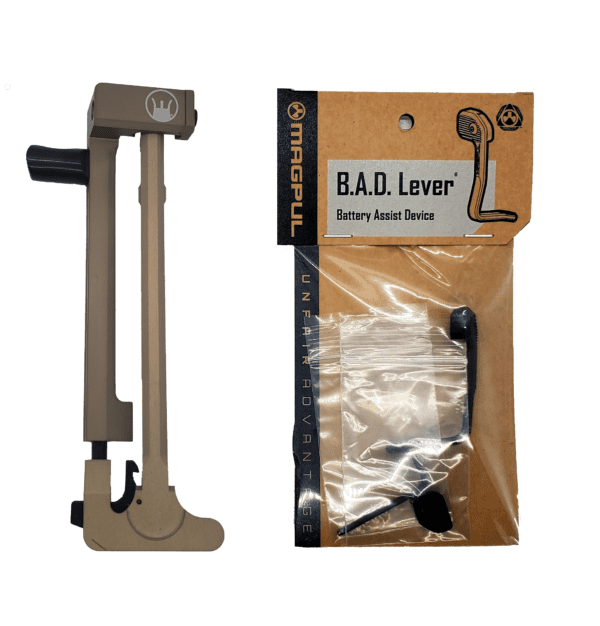 DEVIL DOG CONCEPTS HARD CHARGER FDE ANODIZED WITH MAGPUL B.A.D. LEVER