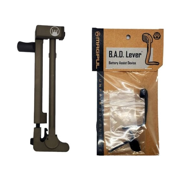 DEVIL DOG CONCEPTS HARD CHARGER ANODIZED OD GREEN WITH MAGPUL B.A.D. LEVER